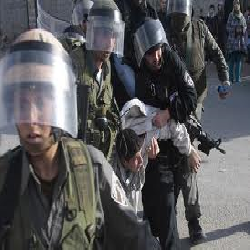The Israeli Occupation arrests five people with a girl in Hebron